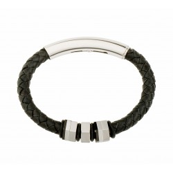 Alicante Leather and Steel Bracelet
