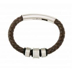 Firenze Leather and Steel Bracelet