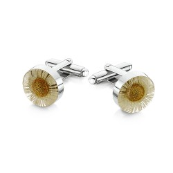 White Daisy Cufflinks