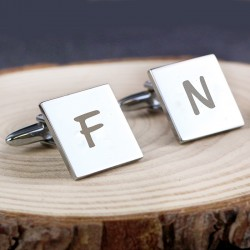 Personalised Square Initial Cufflinks