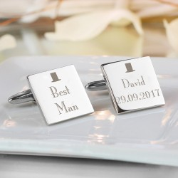 Top Hat Best Man Cufflinks Personalised