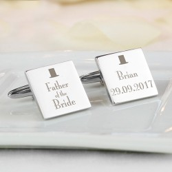 Personalised Top Hat Father of the Bride Cufflinks
