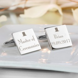 Personalised Any Role Wedding Square Cufflinks