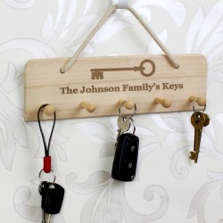 Personalised Wooden Key Holder