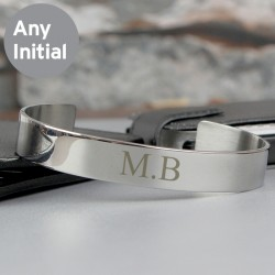 Personalised Stainless Steel Initials Bangle