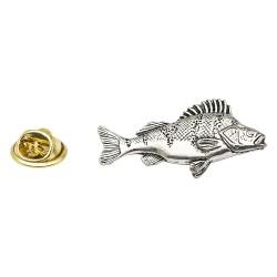 Large Perch Fish - Fishing - Pewter Lapel Pin Badge
