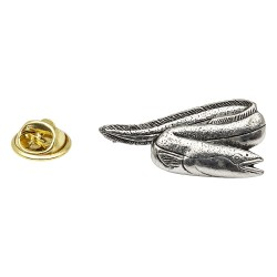 Eel Pewter Lapel Pin Badge