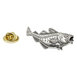 Cod Fish - Fishing - Pewter Lapel Pin Badge