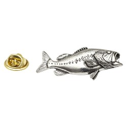 Bass Fish - Fishing - Pewter Lapel Pin Badge