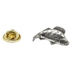 Small Perch Fish - Fishing - Pewter Lapel Pin Badge
