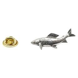 Grayling Fish Pewter Lapel Pin Badge
