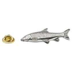 Barbel Fish - Fishing - Pewter Lapel Pin Badge