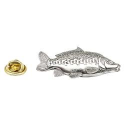 Mirror Carp Fish - Fishing - Pewter Lapel Pin Badge