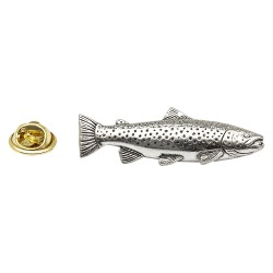 Brown Trout Fish - Fishing - Pewter Lapel Pin Badge