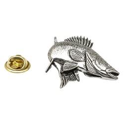 Zander/Walleye Fish - Fishing - Pewter Lapel Pin Badge
