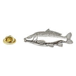 Common Carp Fish - Fishing - Pewter Lapel Pin Badge