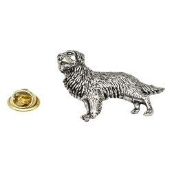 Golden Retriever Pewter Lapel Pin Badge