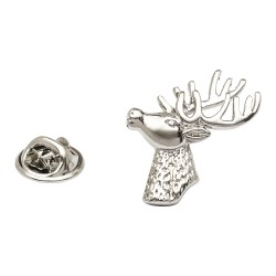 Stag Bust Lapel Pin