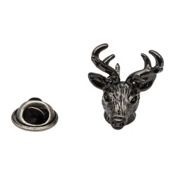 Antique Finishes Stags Head Lapel Pin