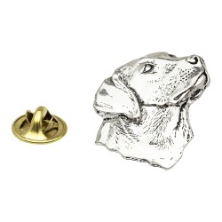 Labrador's Head Pewter Lapel Pin Badge