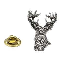 White Tailed Deer Pewter Lapel Pin Badge
