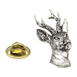 Roe Deer (Stag) Pewter Lapel Pin Badge