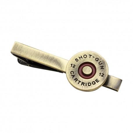 Red Shotgun Shell Design Tie Clip
