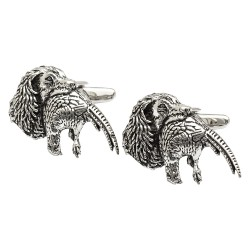 Pewter Spaniel and Pheasant Cufflinks