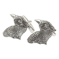Pewter Pheasants Head Cufflinks