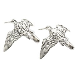 Pewter Woodcock Cufflinks