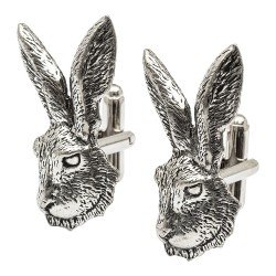 Pewter Hares Head Cufflinks