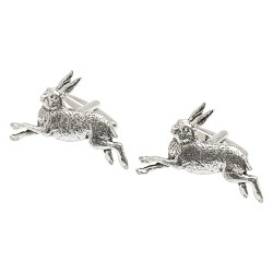 Pewter Leaping Stag Cufflinks