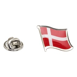 Flag of Denmark Lapel Pin - Wavy Flag