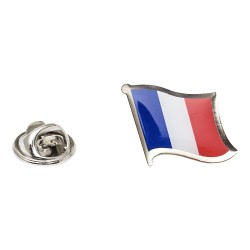 Flag of France Lapel Pin - Wavy Flag