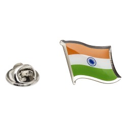 Flag of India Lapel Pin - Wavy Flag