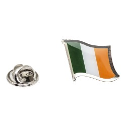 Flag of Republic of Ireland Lapel Pin - Wavy Flag