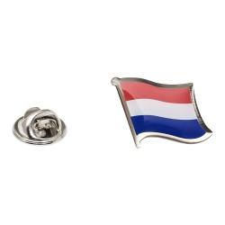 Flag of Netherlands Lapel Pin - Wavy Flag