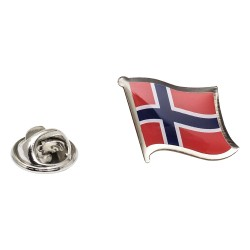 Flag of Norway Lapel Pin - Wavy Flag