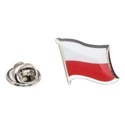 Flag of Poland Lapel Pin - Wavy Flag
