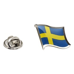 Flag of Sweden Lapel Pin - Wavy Flag