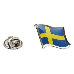 Flag of Sweden Lapel Pin - Wavy Flag