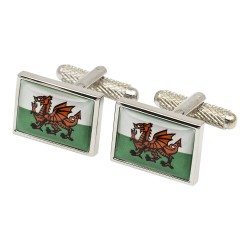 Flag of Wales Cufflinks | Welsh Flag Cufflinks | National Flag Cufflinks