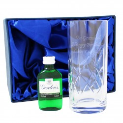 Personalised Crystal and Gin Gift Set