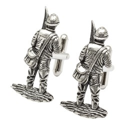 British Made Pewter Fisherman Cufflinks