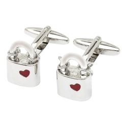 Locked in Love Padlocks Cufflinks