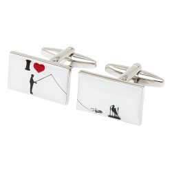 I Love Fishing Cufflinks