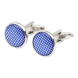 Purple Speckled Polka Dot Cufflinks