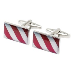 Barbers Pole Stripes Cufflinks