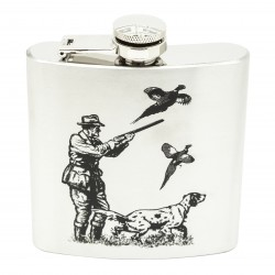 Shooting Scene 6oz Hip Flask
