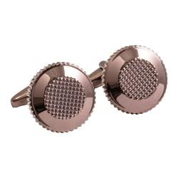 Jos Von Arx - Designer Metallic Brown Round Cufflinks
